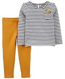 2-Piece Striped Tee & Slub Jersey Pants