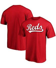 Men's Red Cincinnati Reds Official Wordmark T-shirt