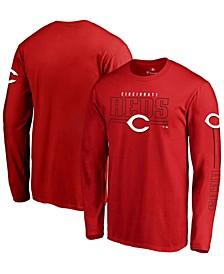 Men's Red Cincinnati Reds Team Front Line Long Sleeve T-shirt