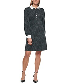 Collared Fit & Flare Dress