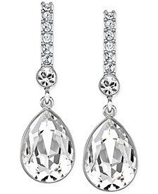 Swarovski Silver-Tone Crystal Drop Earrings