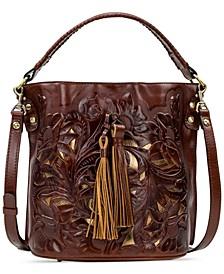 Otavia Cut-Out Leather Bucket Bag