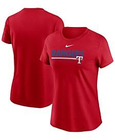 Women's Red Texas Rangers Baseball T-shirt