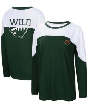 Women's Green Minnesota Wild Pop Fly Long Sleeve T-shirt