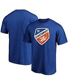Men's Royal FC Cincinnati Team Primary Logo T-shirt