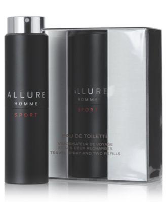 ALLURE HOMME SPORT Men's Eau de Toilette Refillable Travel Spray, 0.7 oz