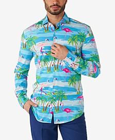 Men's Flaminguy Tropical Flamingo Dress Shirt