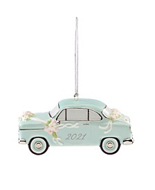 2021 Just Married Vintage-Like Car Ornament