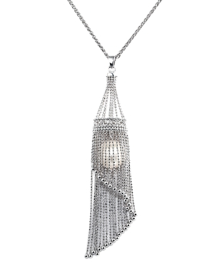 Pearl Lace by Effy Cultured Freshwater Pearl Cage Pendant Necklace in Sterling Silver (13mm)