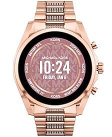 Access Unisex Gen 6 Bradshaw Smartwatch: Rose Gold-Tone Case with Stainless Steel Bracelet 44mm