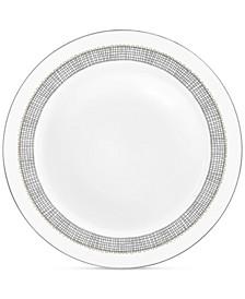 Gilded Weave Platinum Rim Soup Plate