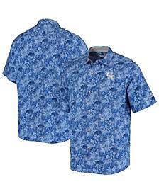 Men's Royal Kentucky Wildcats Sport Jungle Shade Camp Button-Up Shirt