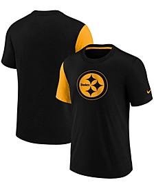 Girls Youth Black Pittsburgh Steelers Fashion T-shirt