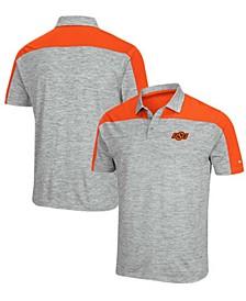 Men's Gray-Orange Oklahoma State Cowboys Einstein Polo