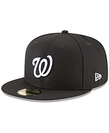 Men's Black Washington Nationals 59FIFTY Fitted Hat