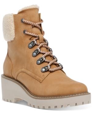 Russit Faux-Fur Cuffed Booties Women's Shoes