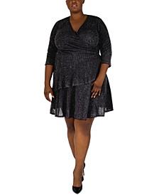 Plus Size Glitter-Knit Dress