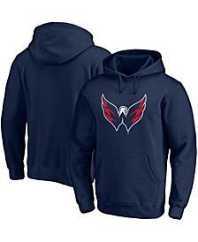 Men's Navy Washington Capitals Primary Logo Pullover Hoodie
