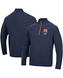 Men's Navy Auburn Tigers Coaches Squad Quarter-Zip Jacket