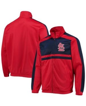 Men's Red St. Louis Cardinals Full-Zip Track Jacket