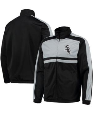 Men's Black Chicago White Sox Full-Zip Track Jacket