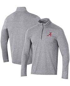 Men's Heathered Gray Alabama Crimson Tide Field Day Team Quarter-Zip Jacket