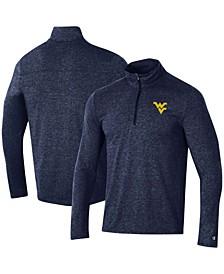 Men's Heathered Navy West Virginia Mountaineers Field Day Team Quarter-Zip Jacket