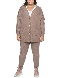 Plus Trendy Oversized Cardigan