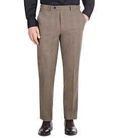 Men's Classic-Fit Tan Plaid Suit Separate Pants