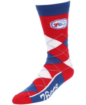 Men's and Women's Philadelphia 76Ers Argyle Multi Crew Socks