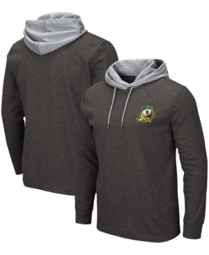 Men's Black Oregon Ducks Milhouse 2.0 Long Sleeve Hoodie T-shirt