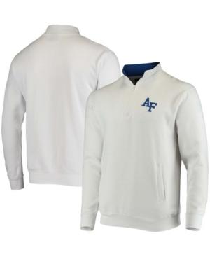 Men's White Air Force Falcons Tortugas Logo Quarter-Zip Jacket
