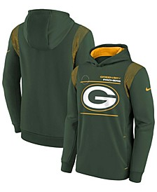 Youth Boys Green Green Bay Packers Logo Performance Pullover Hoodie