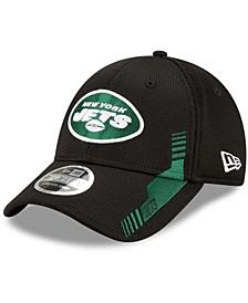Men's Black New York Jets 2021 NFL Sideline Home 9Forty Adjustable Hat