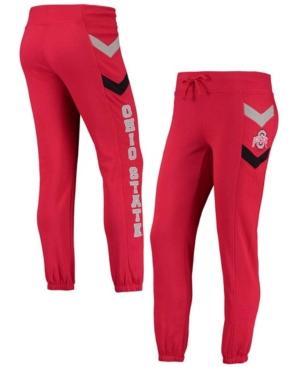 Women's Scarlet Ohio State Buckeyes Kripke Chevron Jogger Pants