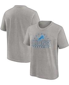 Youth Boys Steel Detroit Lions Dual Threat T-shirt