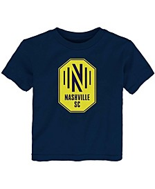 Toddler Boys and Girls Navy Nashville SC Primary Logo T-Shirt