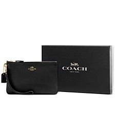 Boxed Small Leather Wristlet