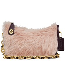 Swinger Bag With Chain In Shearling and Leather