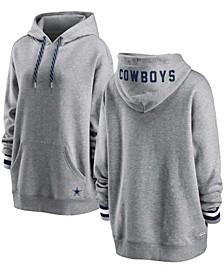 Women's Heathered Gray Dallas Cowboys Pullover Fleece Hoodie