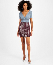 Tawana Faux-Leather Mini Skirt