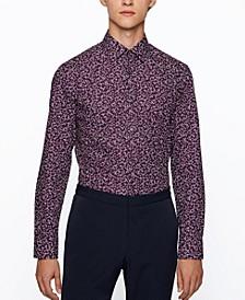BOSS Men's Slim-Fit Printed Poplin Shirt