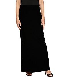 Elastic Waist Velvet Skirt