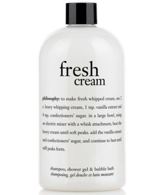 fresh cream shower gel, 16 oz