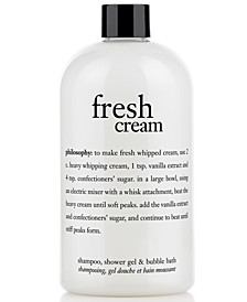fresh cream shower gel, 16 oz