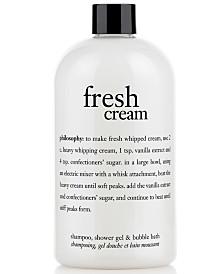 philosophy fresh cream shower gel, 16 oz