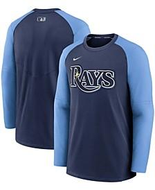 Men's Navy, Light Blue Tampa Bay Rays Authentic Collection Pregame Performance Raglan Pullover Sweatshirt