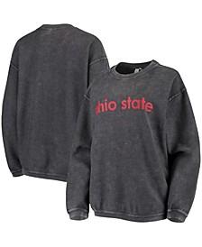 Women's Charcoal Ohio State Buckeyes Corded Pullover Sweatshirt