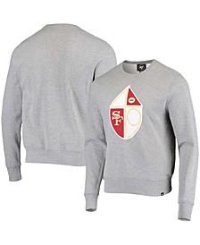 Men's Heathered Gray San Francisco 49Ers Imprint Headline Historic Logo Fleece Pullover Sweatshirt