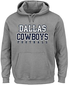 Men's Big and Tall Heathered Gray Dallas Cowboys Practice Pullover Hoodie